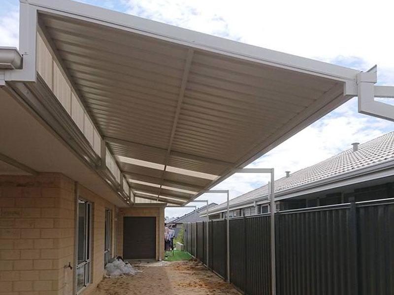 skillion patio installation